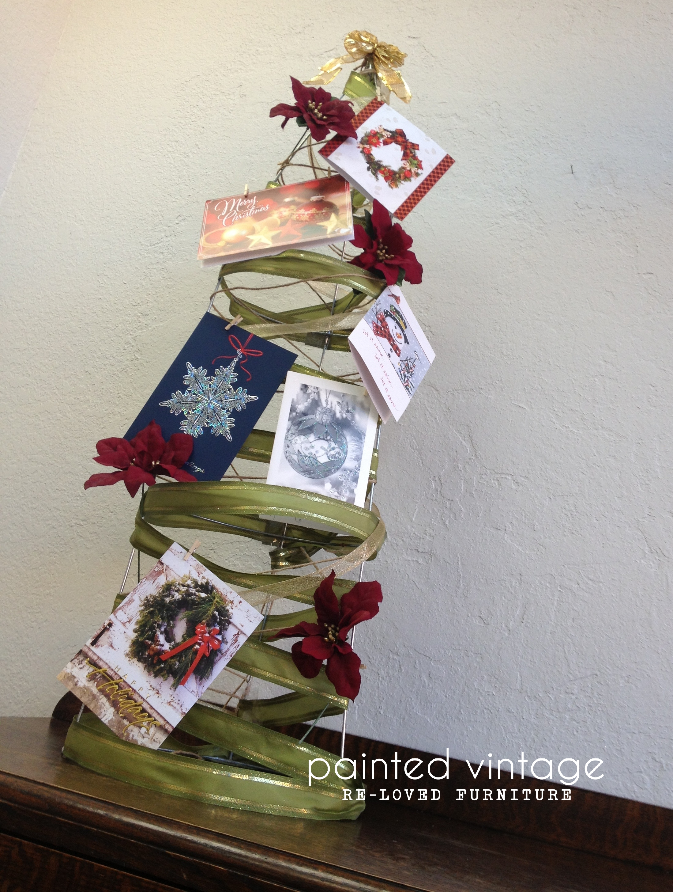 diy christmas card display ideas