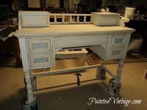 French Inspired desk redo