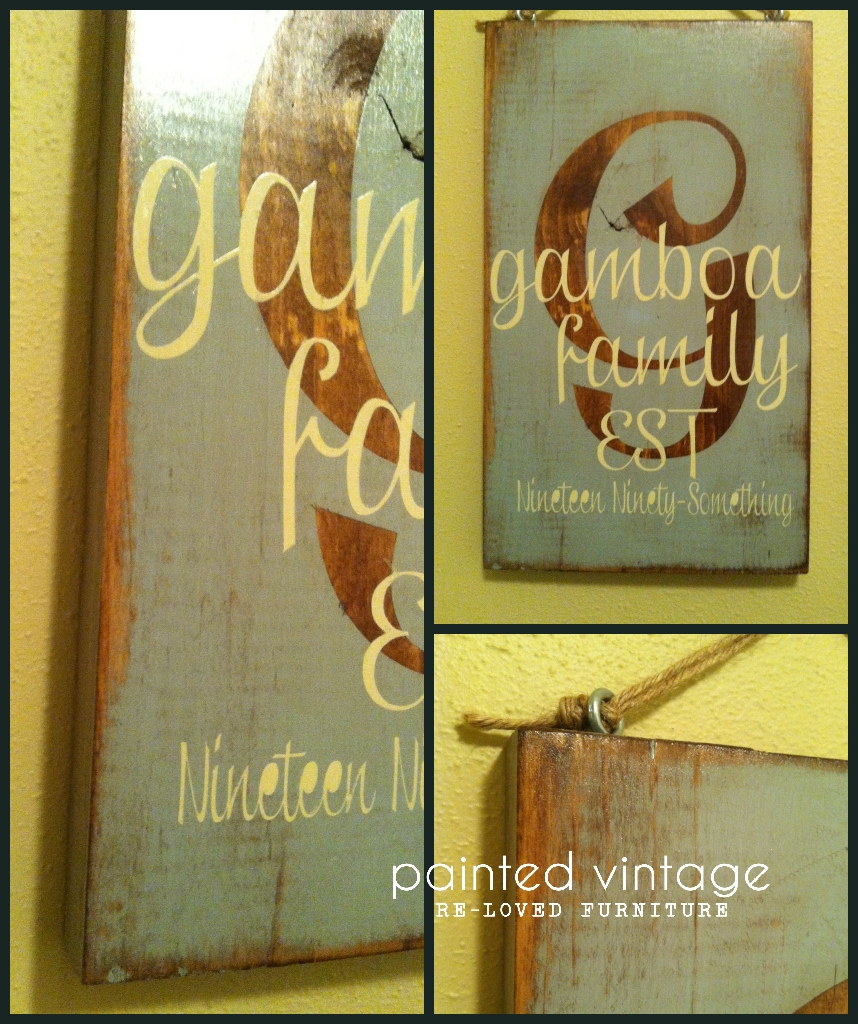 Rustic Monogram Painted Vintage