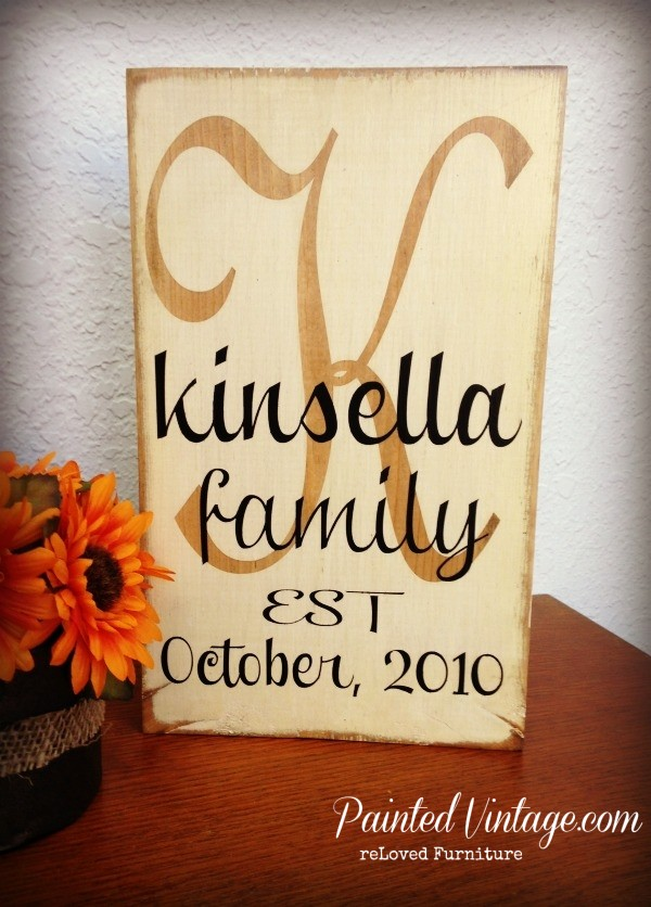 Rustic Wood Monogram Sign