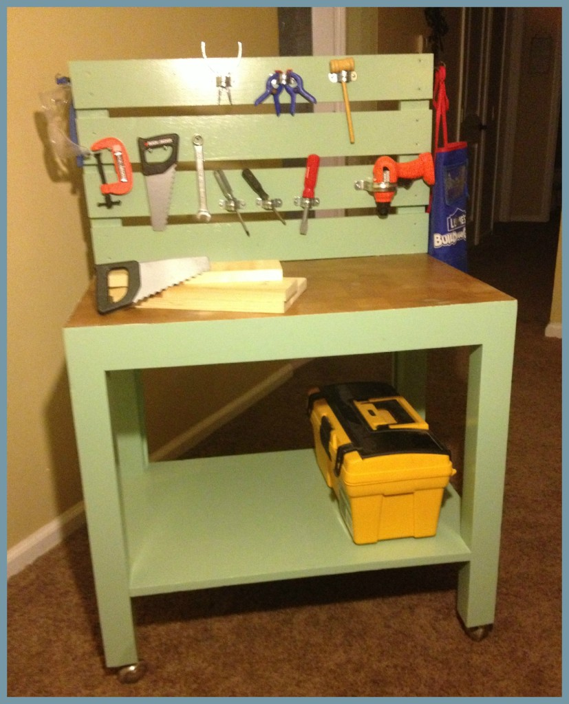 Diy Kids Workbench Painted Vintage