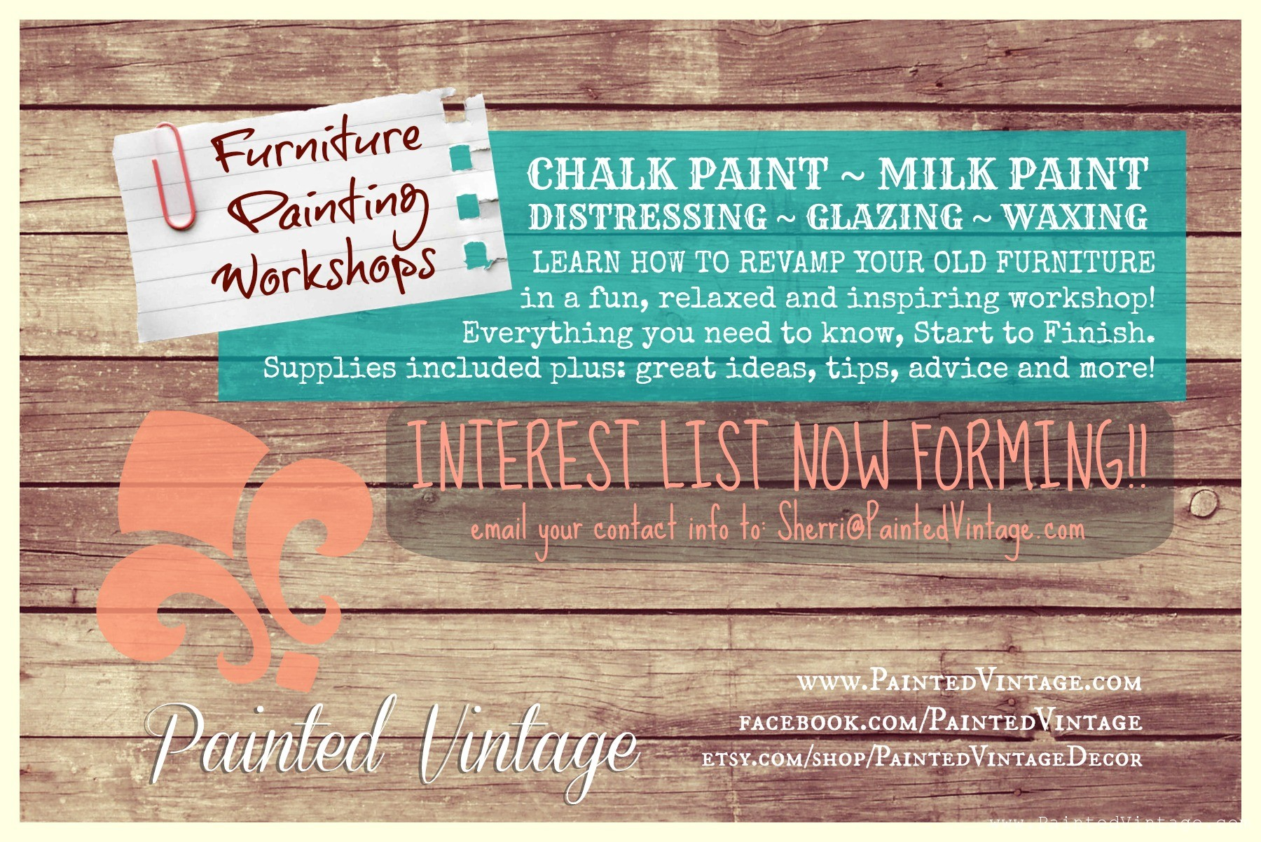 Furniture Painting Workshops