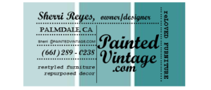 Painted vintage Business Card