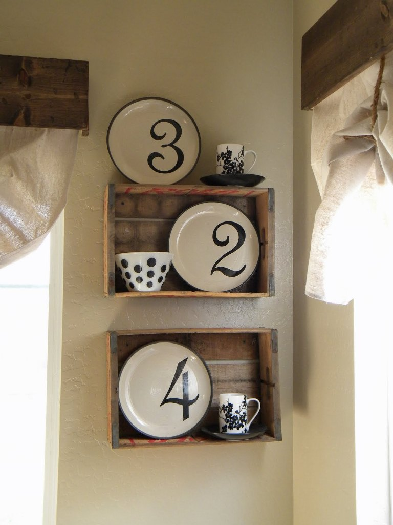 Soda Crate Plate Rack