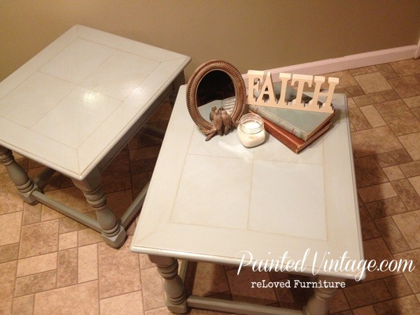Refreshed End Tables tops