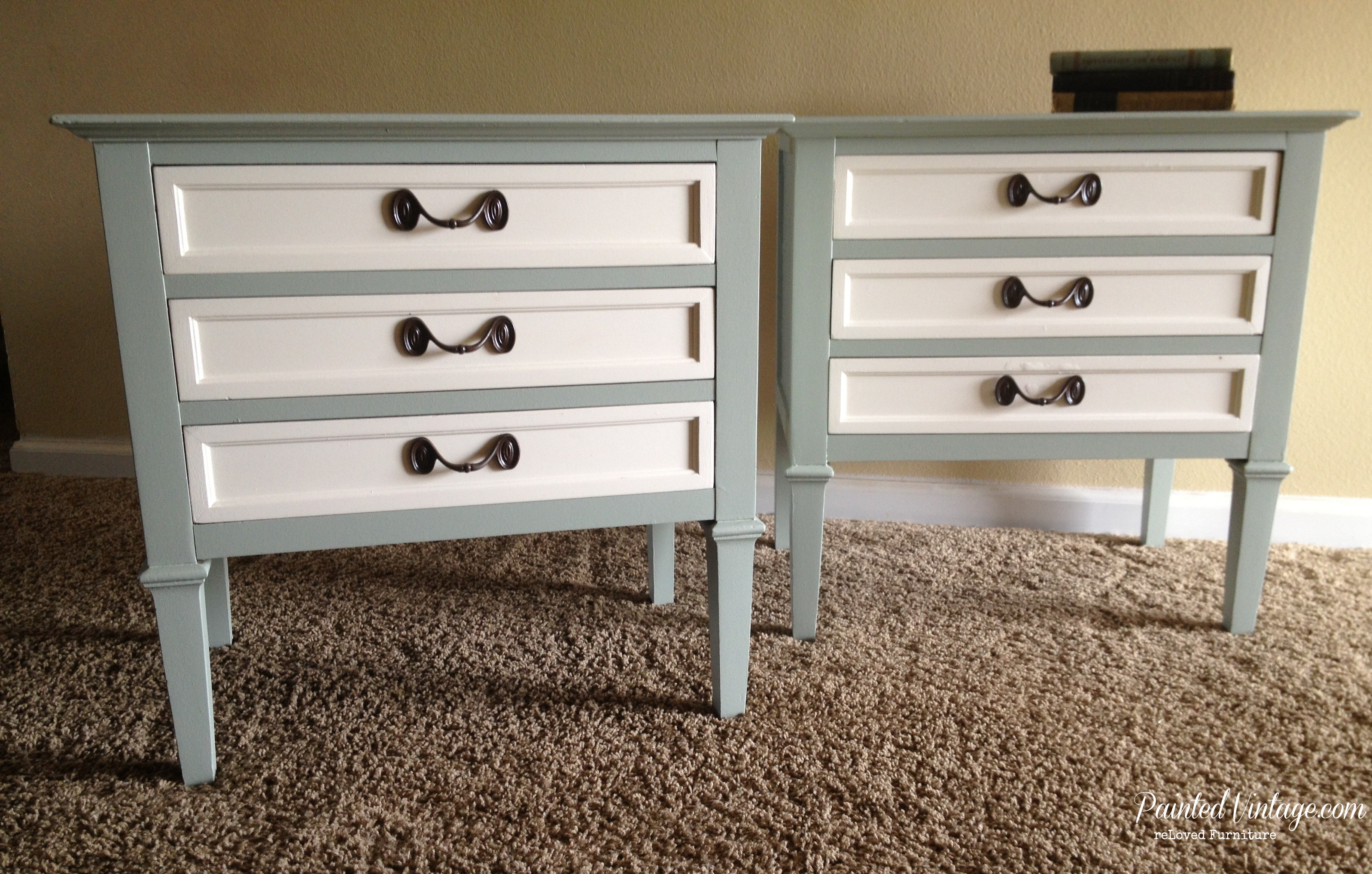 Painted Vintage Drexel Nightstands