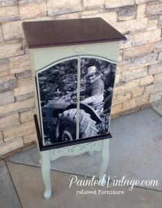 Painted Vintage Engineer Print Chest