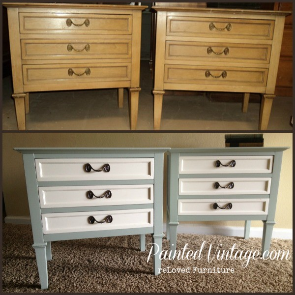 Painted Vintage Nightstand Makeover