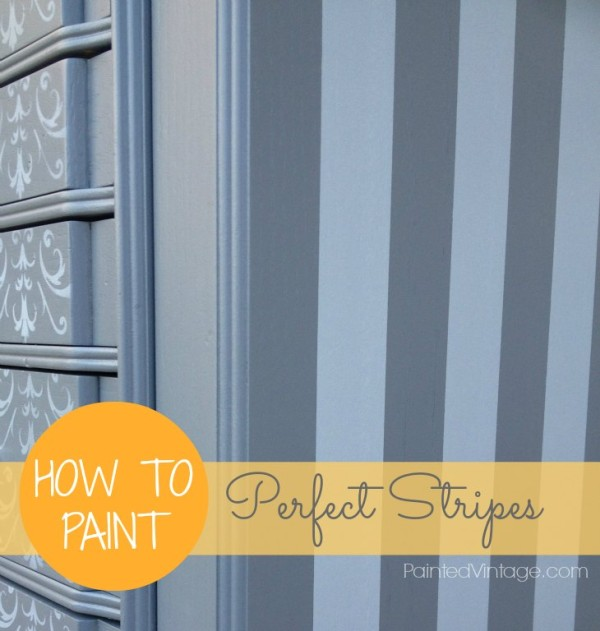 How To Paint Stripes Painted Vintage
