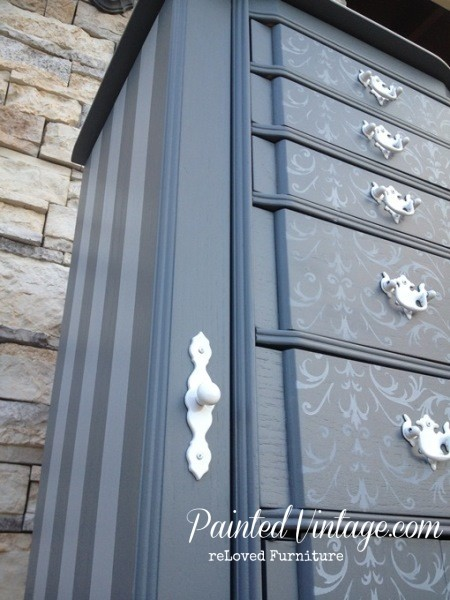 Painted Vintage Jewelry Armoire
