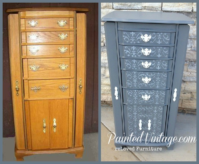 Traceys Fancy Inspired Jewelry Armoire Painted Vintage