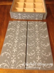 Traceys Fancy Stencil Armoire