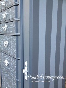 jewelry armoire painted stripes