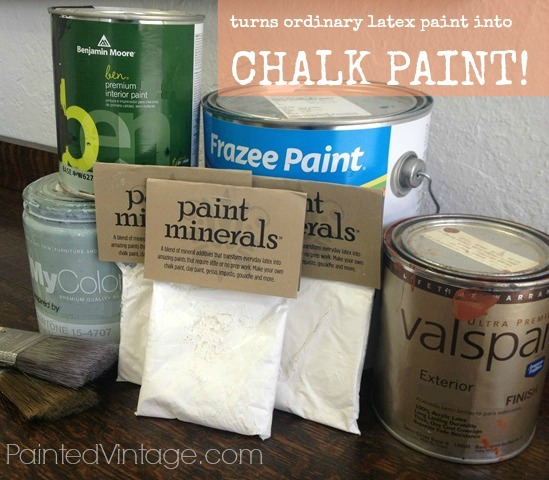 Not so diy chalk paint recipe painted vintage for Diy chalk paint problems