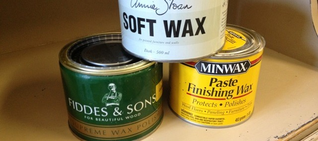 Wax over chalk paint