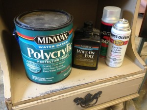 water based polycrylic over chalk paint
