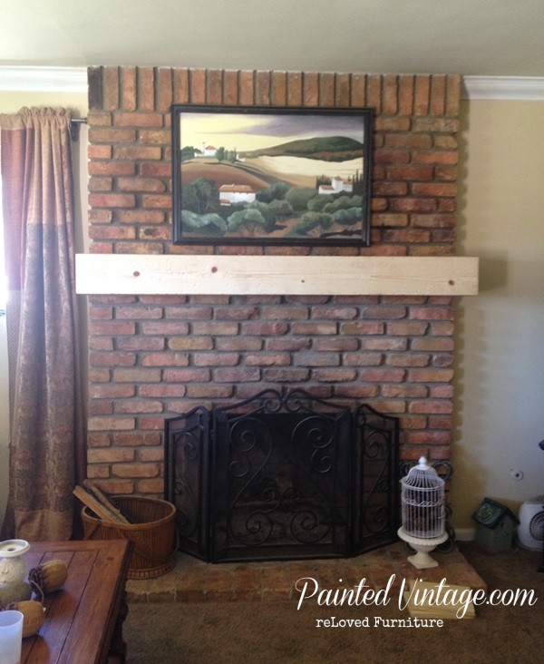 diy mantel cap painted vintage