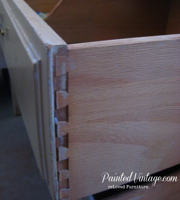 two toned nightstands dovetail joints