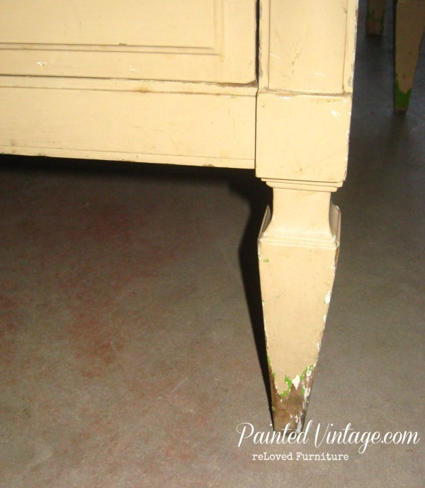 two toned nightstands legs
