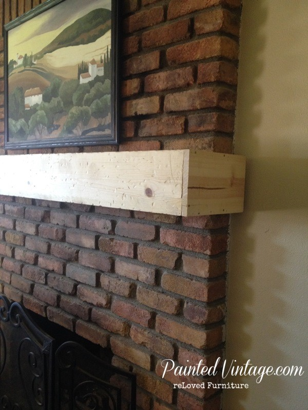 diy wood mantle