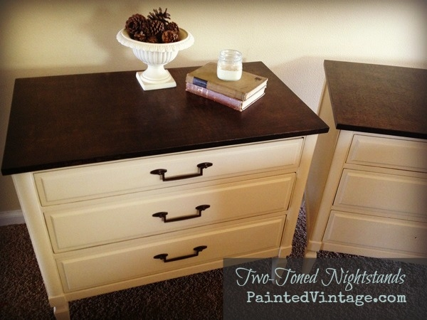 Two Toned Nightstands by PaintedVintage