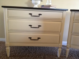 reLoved two toned nightstands