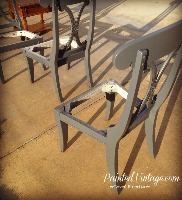 Dining Chairs Repainted