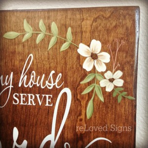 Handpainted flowers sign