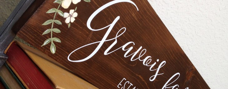 wedding sign by reloved signs